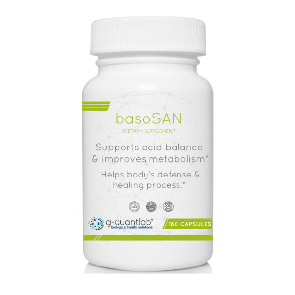 basosan dietary supplement to balance pH levels, to improve metabolism.