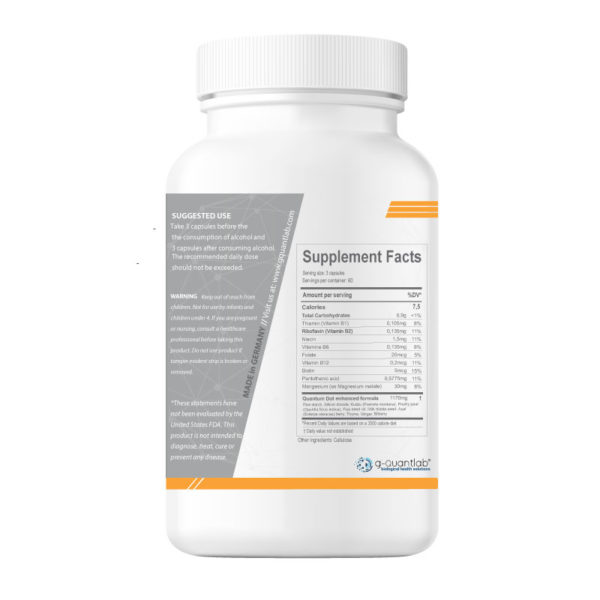 biojet reducing hangover symptoms, supplements facts and suggested use.