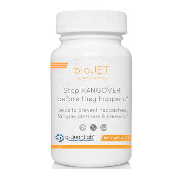 biojet dietary supplement to reduce hangover symptoms.