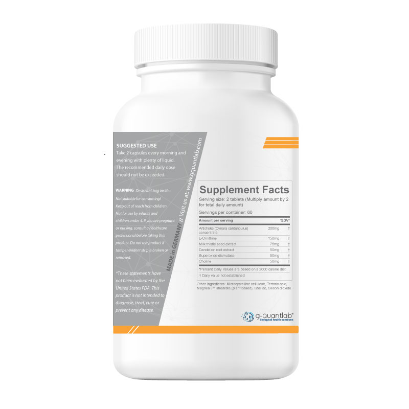 iecursan for fatty liver detox, supplements facts and suggested use.